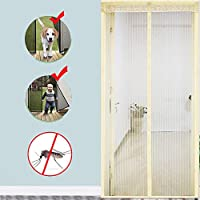 Velcro 磁気スクリーン ドア,ヘビーデューティ メッシュ カーテン 完全なフレーム 防蚊 新鮮な空気を入れなさい 高密度 防蚊ネット-C 90x215cm(35x85inch)