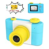Rotek 子供用 デジタルカメラ トイカメラ500万、1080p画素 子供カメラ 1.5インチディスプレイ画面、8G容量SDカード付き、USB充電、日本語説明書付き、操作画面日本語設置。保証対応「ブル/ピンク」 (ブルー)