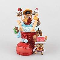 アニメモデル おもちゃの像のおもちゃのモデル絶妙な飾り装飾/ギフト/誕生日プレゼント11CM HBJP (色 : 赤)