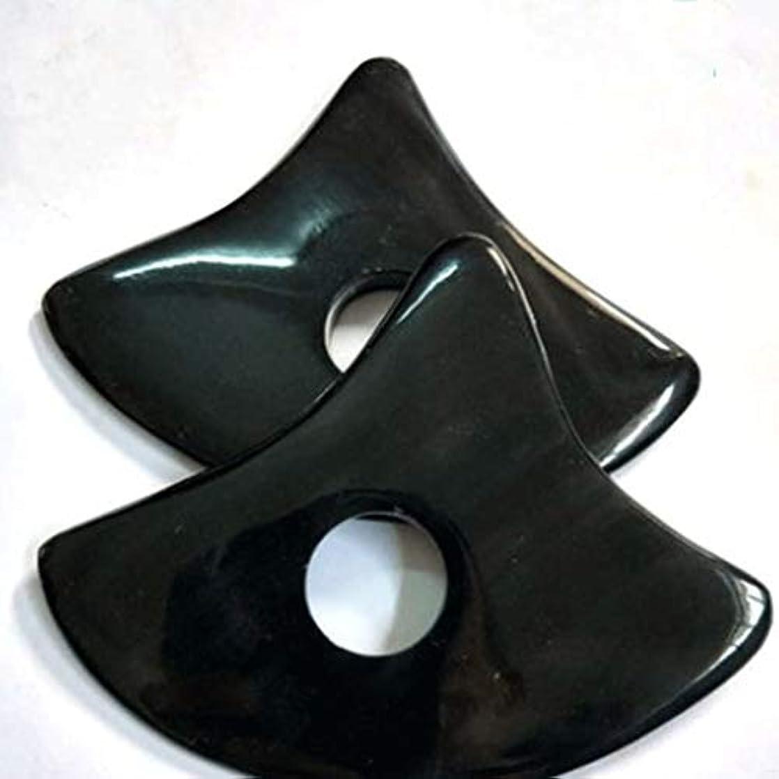 振り返る免除するリクルートプレート削れを掻き板黒水牛三角板を掻きスクレーパ板手作りハイグレード自然健康ホーン