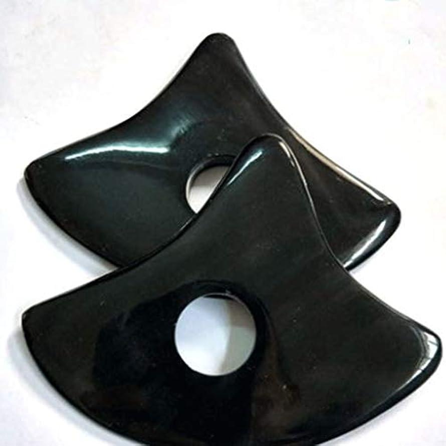 バンドエミュレートするりプレート削れを掻き板黒水牛三角板を掻きスクレーパ板手作りハイグレード自然健康ホーン