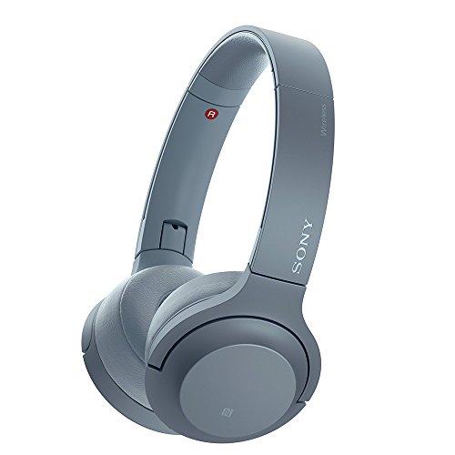 ソニー SONY ワイヤレスヘッドホン h.ear on 2 Mini Wireless WH-H800 : Bluetooth/ハイレゾ対応 最大24時間連続再生 密閉型オンイヤー マイク付き 2017年モデル ムーンリットブルー WH-H800 L