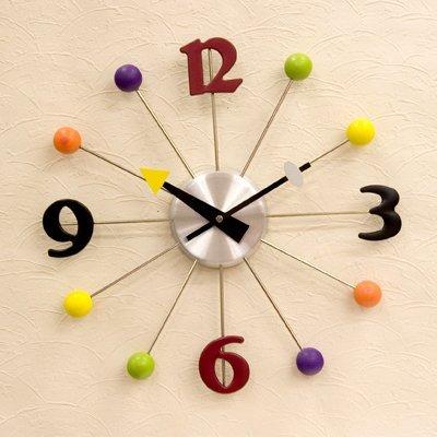 可愛らしいウォールクロック(壁掛け時計) 「ボールクロック」...