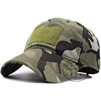 MKJNBH Tactical Army Cotton Cap Army Camouflage Caps Operator Hat Outdoor Hunting Loop Patch Green Camo