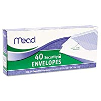 Bulk Buy: Mead Boxed Envelopes 4 1/8X9 1/2 40/Pkg Security #10 (6-Pack) [並行輸入品]