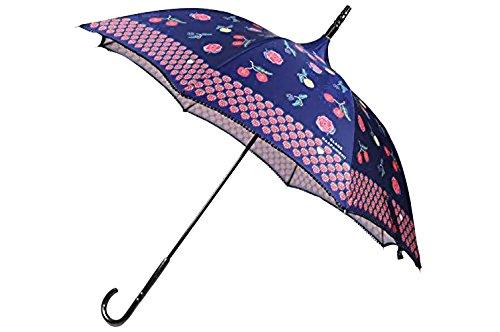 (アナスイ)ANNA SUI クラウス ハーパニエミコラボ パゴタスタイル 雨傘 長傘 / ネイビー