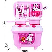 Pretendおもちゃfor Kids Cookerセットライトサウンドギフト、nomeni子供キッズキッチン料理ごっこRole Play Toy AS SEE ピンク NOMENI0122