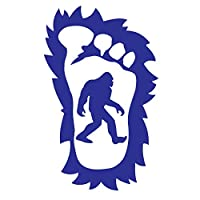 Bigfoot 's Hairy Sasquatch足5年アウトドアプレミアムビニールデカール S ブルー bigfoot_hairy_foot-sm-blue