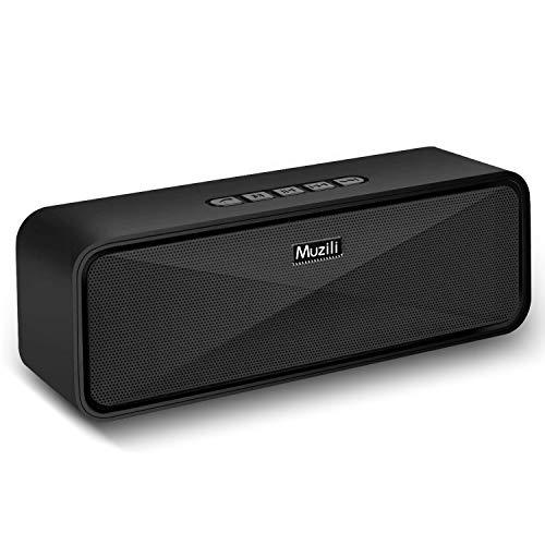 Muziliブルートゥース スピーカー Bluetooth スピーカー speaker 重低音 高音質 臨場感満点 耐久性 ハンズフリー通話 コスパ最高(ブラック)