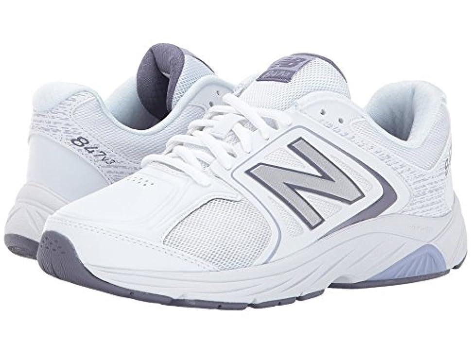 サービス決済ラブ(ニューバランス) New Balance レディースウォーキングシューズ?靴 WW847v3 White/Grey 12 (29cm) EE - Extra Wide