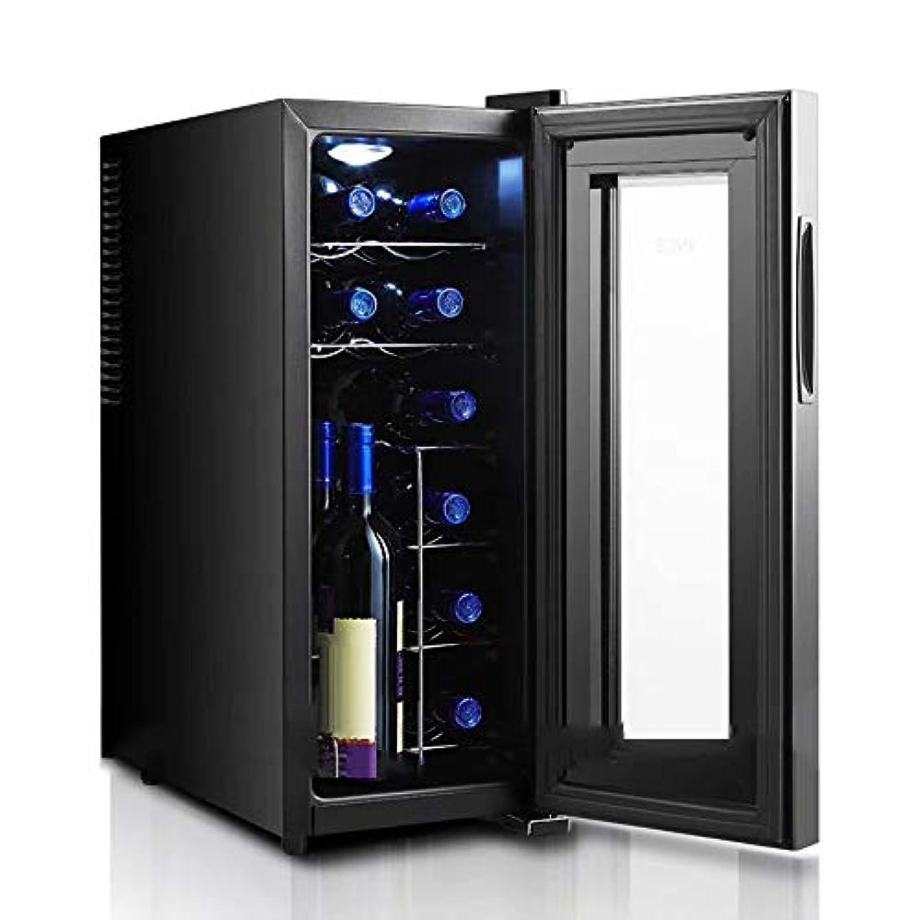 常習的昆虫を見る食品ワインセラー-コンプレッサー自立型ワインクーラーチラー-ワインクーラー/キャビネット飲料冷蔵庫小型ミニレッド/ビールとシャンパン-デジタル温度表示-静かな操作