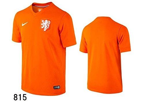 NIKE(ナイキ) オランダ代表 ホーム用 レプリカ サッカーユニフォーム 半袖 ゲームシャツ 150サイズ(140-150cm) 577956 セイフティオレンジ×ホワイト 国内正規品