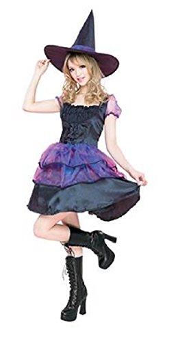 ドーリーウィッチ コスプレ 魔法使い ウィッチ パープル 魔女 ハロウィン 衣装 仮装 パーティ イベント