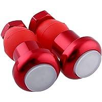 Beautyrain 1ペア 自転車LEDハンドライト/テールライト/警告灯 ブラック/ホワイト/レッド