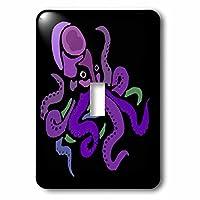 3drose LSP _ 240630_ 1Cool FunカラフルOctopus抽象アートSingleトグルスイッチ、マルチカラー