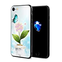 Epoch Ray 蝶 花 鉢植え スマホケース IPhone8 ケース / IPhone7 ケース 携帯カバー アイフォン7/8カバー 滑り止め おしゃれ 軽量 薄型 人気
