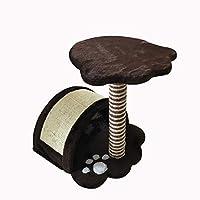 Wvfguj 猫クライミングフレーム大サイザル多層プラットフォームハンモック猫砂猫のおもちゃ猫スクラッチ列 ペットの巣 (Color : Brown)