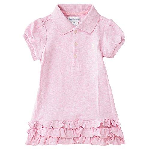 Polo Ralph Lauren/ポロ ラルフ ローレン Ruffled polo Dress & Bloomer ワンピース 【310617693003】 (サイズ:6m、カラー:Carmel pink heather) [並行輸入品]