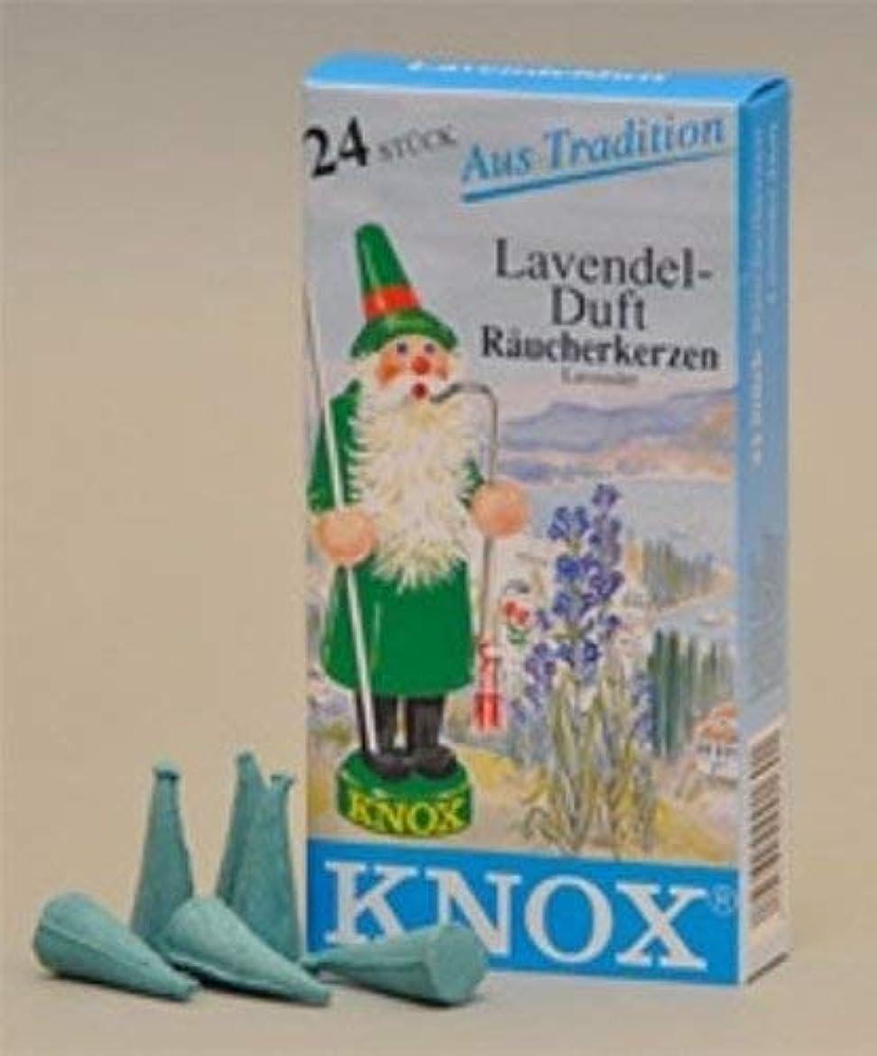 切手悪化させる彫刻Knoxラベンダー香りGerman Incense Conesドイツ製forクリスマスSmokers