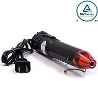 mofa ヒートガン、熱い空気銃加熱ツールは、DIYエンボス加工と乾燥ペンキ多目的電気加熱ノズル150W 110V (ブラック、レッド)