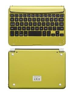 「iPad mini 用 ワイヤレス キーボード イェロースレート iPad ミニをノートパソコン感覚で使える一体型 無線キーボード・Bluetooth・iOS 6.1.3 対応・iPhone&iPad