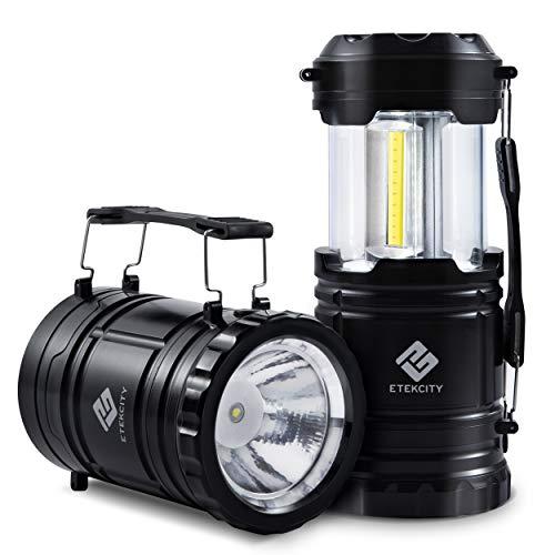 Etekcity LEDランタン 懐中電灯 cob型led搭載 折り畳み式 明るい ポータブル テントライト 電池式 小型 防水 停電 防災 キャンプ アウトドア 登山 夜釣り 2個セット