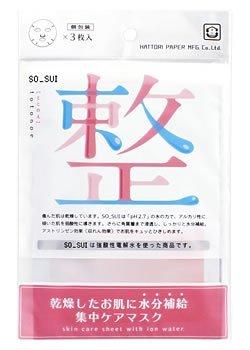 服部製紙 ソスイ フェイスマスク 整(ととのえ)(3枚入)