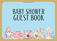 Baby Shower Guest Book: Watercolor Cover 108 Paged guest registry for a Baby Shower: Single-Sided Sign-In Guestbook