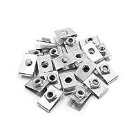 uxcell リベット クリップ ファスナー 銀色調 5mm 金属 リベット バンパー ドアパネル ネジ ファスナー クリップ 自動車に適用 20個入り