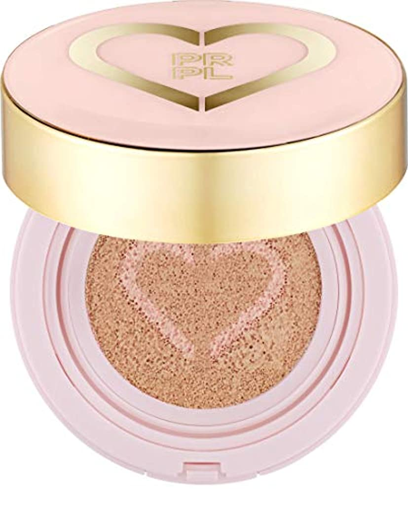 メンタリティやろう学習者PRPL Heart Face Cushion - cover and glow cushion foundation, Korean make-up and skincare cosmetics (#21 Pure Ivory)