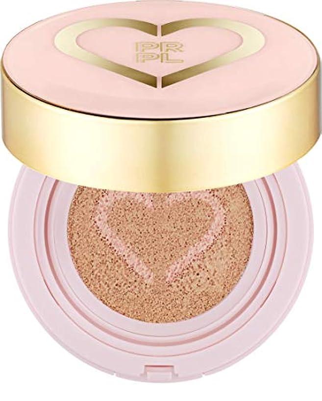 拘束する死傷者幅PRPL Heart Face Cushion - cover and glow cushion foundation, Korean make-up and skincare cosmetics (#21 Pure Ivory)
