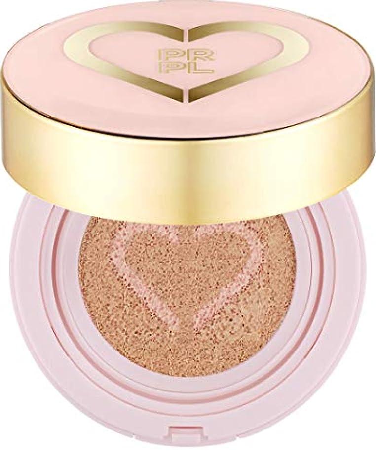 ファンドカールホテルPRPL Heart Face Cushion - cover and glow cushion foundation, Korean make-up and skincare cosmetics (#21 Pure Ivory)