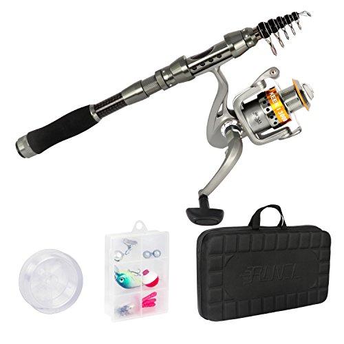 [해외]Runcl 낚싯대 낚시로드 스피닝 릴 세트 고급 감 발군 케이스 휴대용 운반 장대 세트 초보자 입문 세트 바다 낚시 민물 겸용/Runcl Fishing Rod Fishing Rod Rod Spinning Reel Set Luxury Excellent Excellent Portable Portable Port Set with Begi...