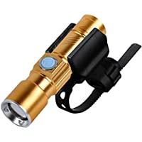 MyMei 懐中電灯 自転車ライト テールライト USB充電式 超小型 自転車ライトホルダとセット 防水 便利
