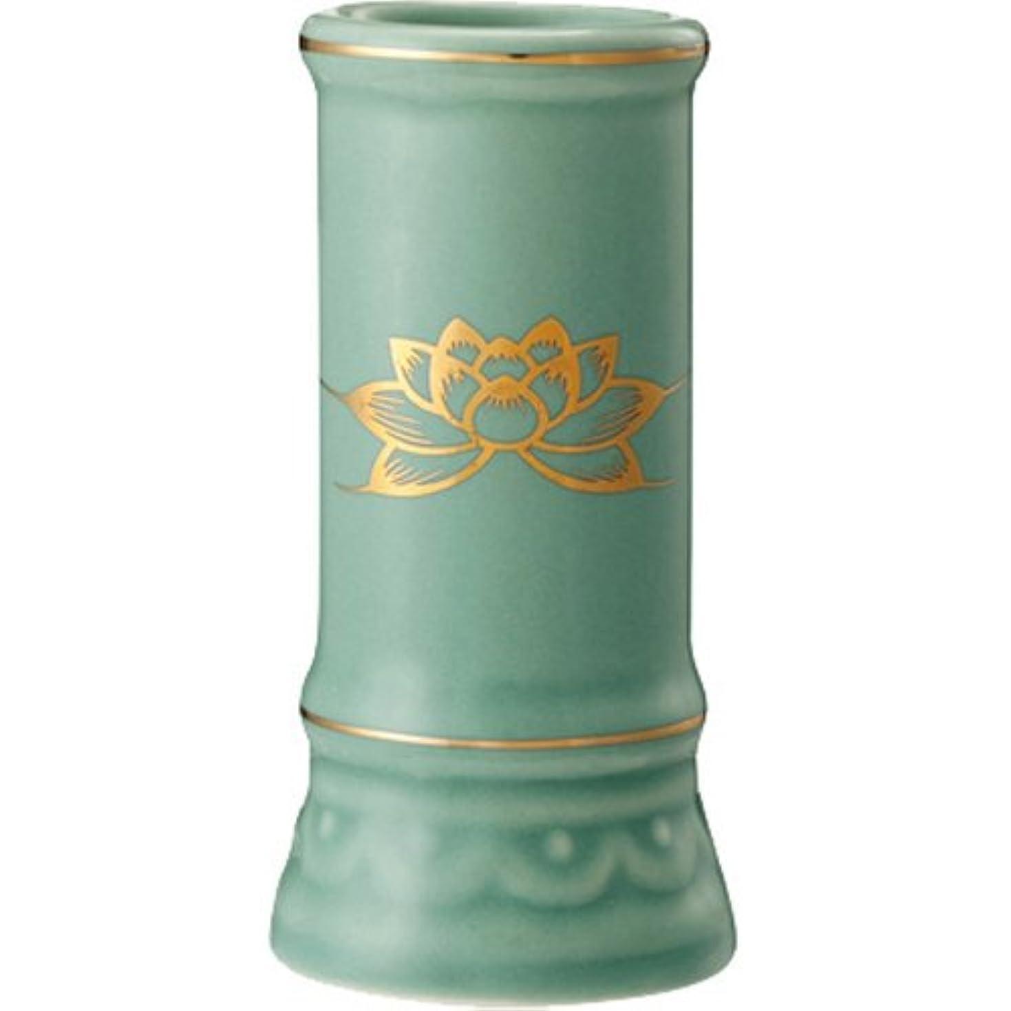 日本香堂 線香立て ミニ陶器青磁