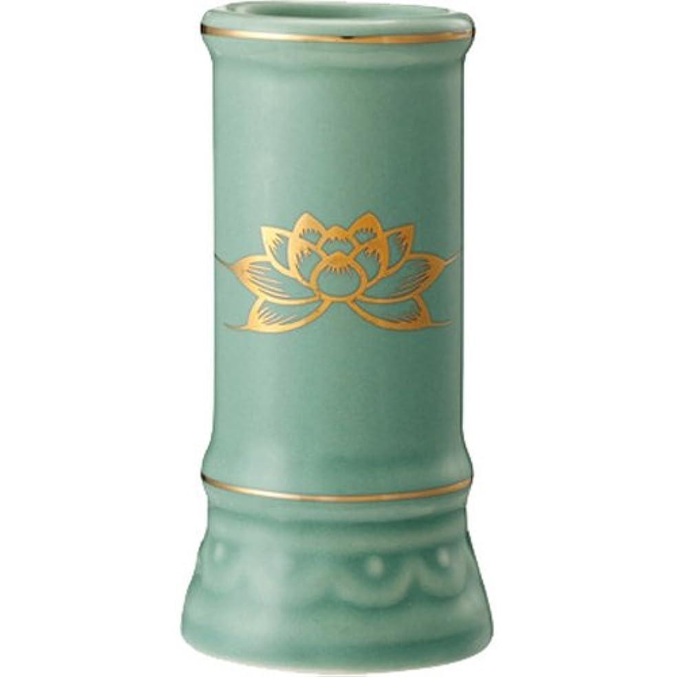 パドル迫害見える日本香堂 線香立て ミニ陶器青磁