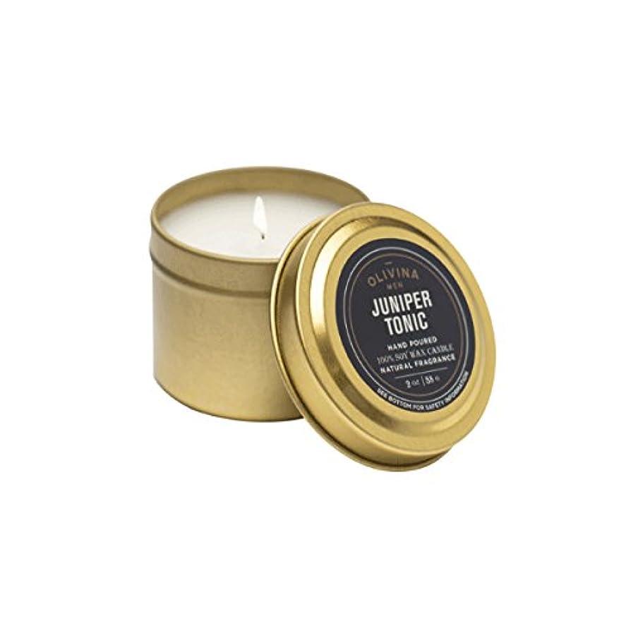 勇気のある製造スティックOlivinaメンズJuniper Tonic Travel Candle 2oz