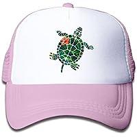 タートル パームリーフ 素敵 かわいい おもしろい ファッション 派手 メッシュキャップ 子ども ハット 耐久性 帽子 通学 スポーツ