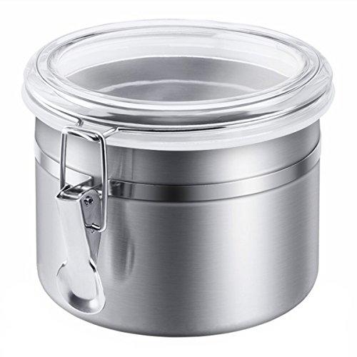 UZIPAL キャニスター 保存容器 密封容器 ステンレス製 密封びん 透明カバー(0.75L)