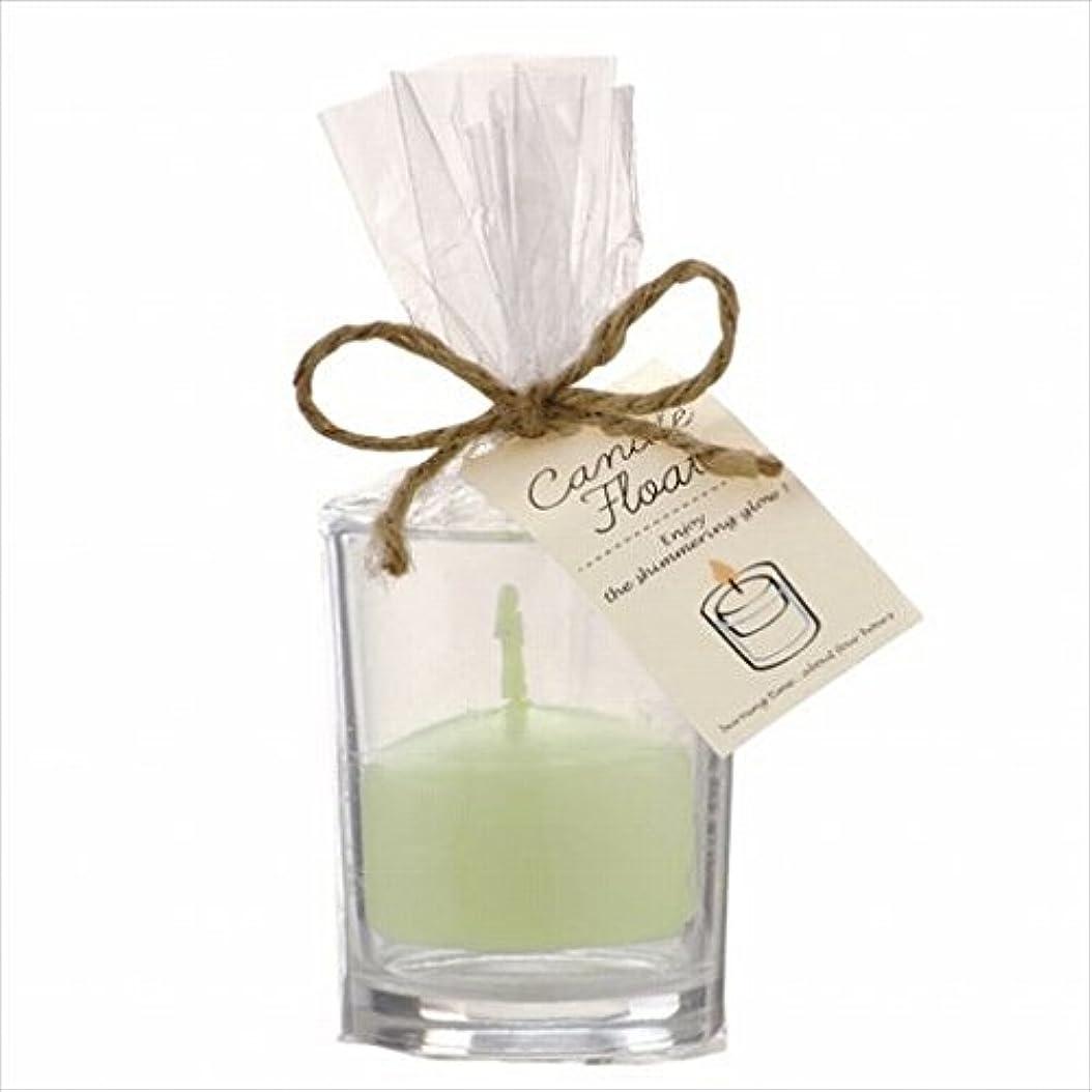 熱エクスタシーのヒープカメヤマキャンドル(kameyama candle) キャンドルフロート 「 ホワイトグリーン 」