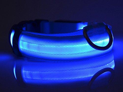 ペット 犬 光るLED ライト 首輪 かわいいヒツジ柄 夜間の安全 ナイロン 調節できる 全5色4サイズ