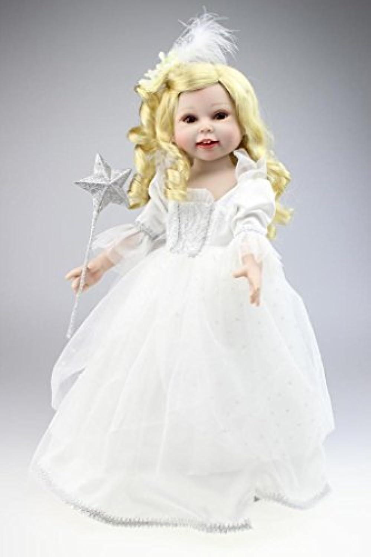 Nicery 人形 Babyラブリーガール玩具人形高ソフビ18インチ45センチメートルリアルな可動プリンセスホワイトドレススマイル Reborn Dolls JP