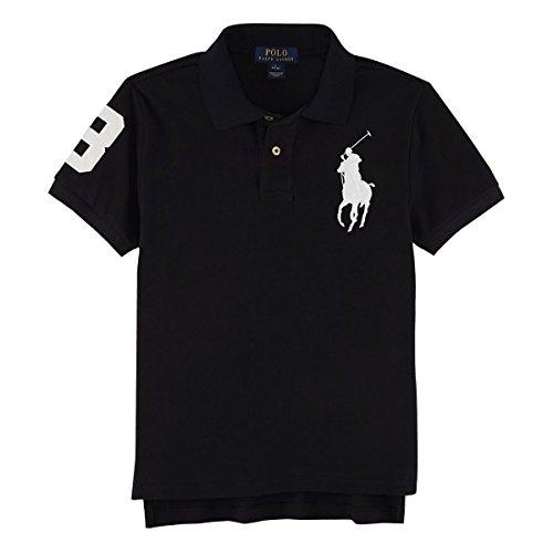 (ポロ ラルフローレン) POLO RALPH LAUREN ポロシャツ RL60003 XLサイズ ブラック/WH ボーイズサイズ ビッグポニー 半袖 鹿の子 ゴルフ 並行輸入品