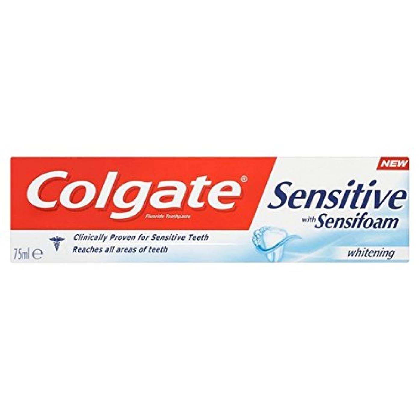 トチの実の木雑草農場Colgate Sensitive Foam White Toothpaste 75ml - コルゲート敏感な泡白歯磨き粉75ミリリットル [並行輸入品]