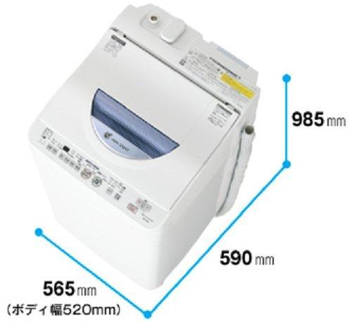 シャープ タテ型洗濯乾燥機 穴なし槽カビぎらい ブルー系 洗濯容量5.5kg ES-TG55L-A