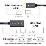 DisplayPort - HDMI変換 アダプター iVANKY DP - HDMI変換 アダプター【1080P/20cm/保証付き】 デスクトップPC、ラップトップ(HP/Lenovo/Dell)、モニター、HDTVなど対応 黒 画像
