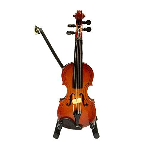 Blesiya ミニチュア 木製 バイオリン 楽器模型 1/12ドールハウス 飾り コレクション 全...