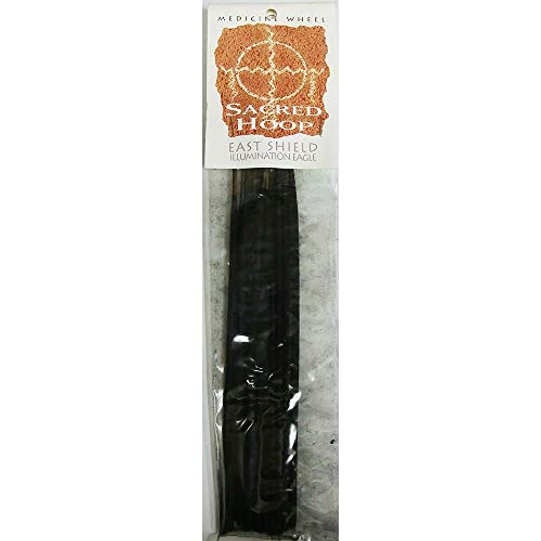 ピルファー盆宿題お香 Medicine Wheel Sacred Hoop East Shield Illumination Eagle インセンス魔法のお香
