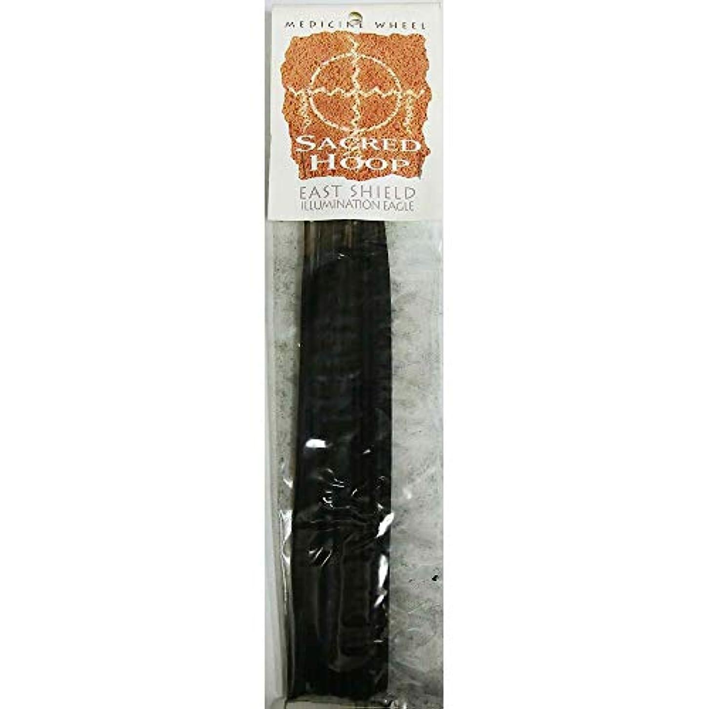 薬理学オリエンタル反応するお香 Medicine Wheel Sacred Hoop East Shield Illumination Eagle インセンス魔法のお香