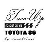 Tune-up mix TOYOTA 86 トヨタ86 ステッカー ブラック 黒